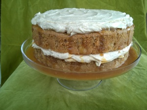 Caramel Apple Cake with Salted Caramel and Cream Cheese Frosting